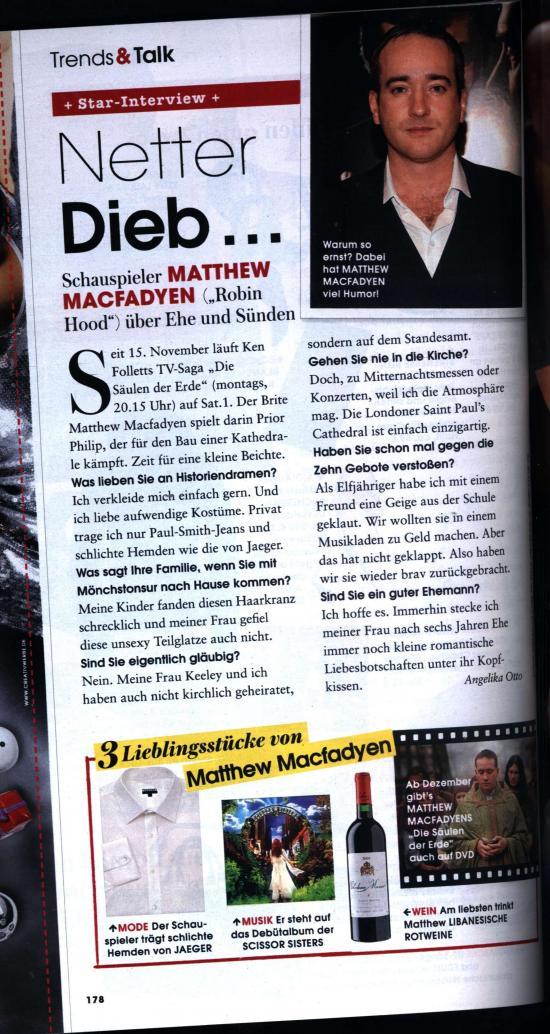 """German """"InStyle"""" Magazine Interview"""